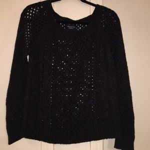 American Eagle charcoal wise stitched sweater.